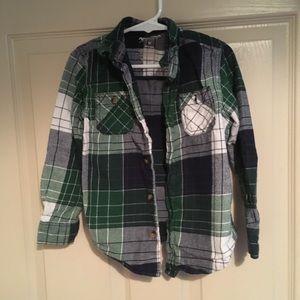 5t Arizona flannel plaid shirt